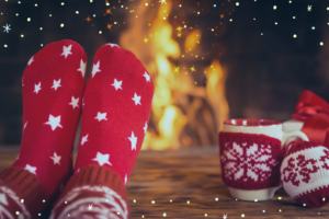 Christmas Safety Tips - keep decorations away from fire